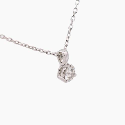 Gargantilla de oro blanco y diamante B-152
