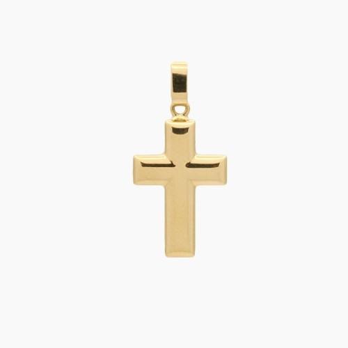 Cruz latina de oro amarillo - 8840