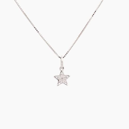 Gargantilla con forma de estrella con diamantes - 1
