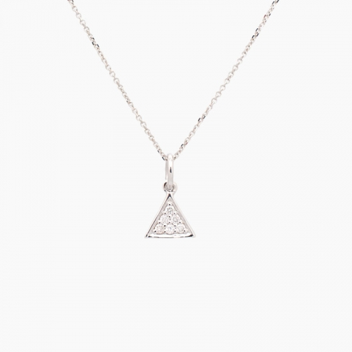Gargantilla con forma de triángulo con diamantes - 1