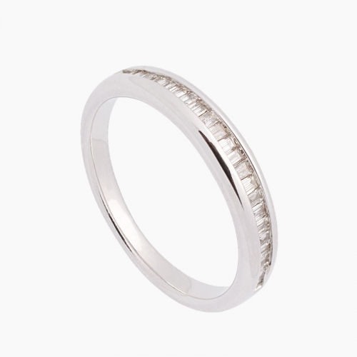 Sortija de oro blanco y diamantes - 2555 - 1