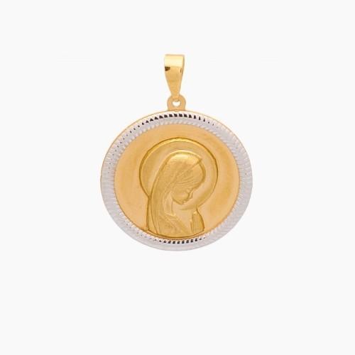 Medalla de la Virgen Niña en oro de 18k - 1