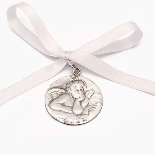 Medalla de cuna con angelote - 1