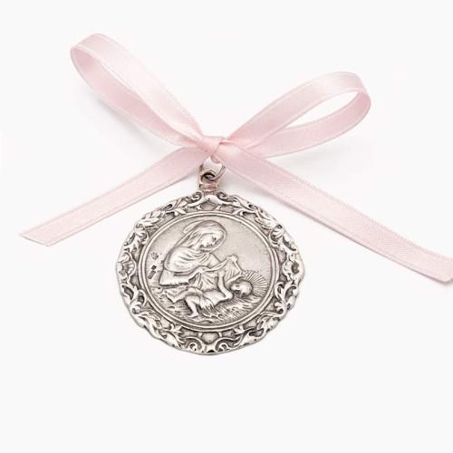 Medalla de cuna con la Virgen y el Niño en Belén - 1
