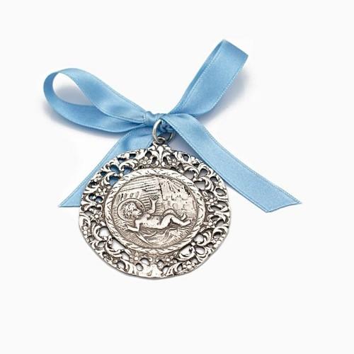 Medalla de cuna con el Niño Jesús entre pajas - 1