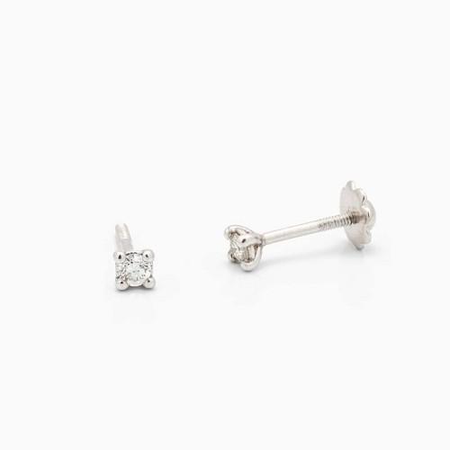 Pendientes de bebé con diamantes - 1