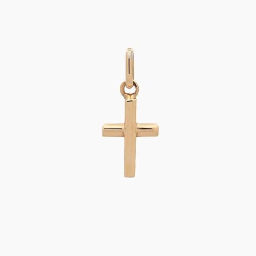 Cruz latina de oro amarillo - 1