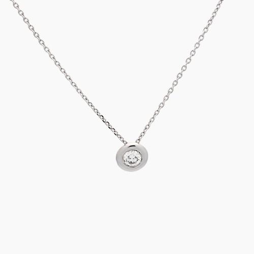 Gargantilla de oro blanco y diamante - 1