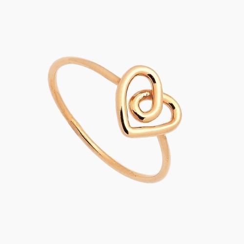 Sortija oro en forma de corazón - 1